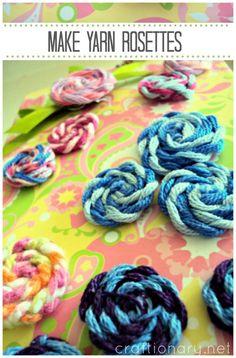 make yarn rosettes