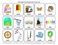 Final TH (voiceless): Free Speech Therapy Articulation Picture Cards  - Pinned by @PediaStaff. - Please Visit http://ht.ly/63sNt for all our pediatric therapy pins