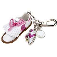 Sydney Love Pink Golf Shoe Keychain #valentinesgift
