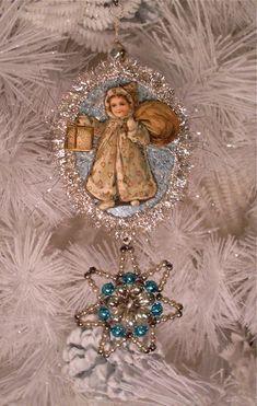 Antique Dresden ornament