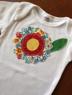 Applique with Flower.