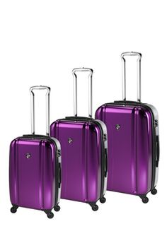 Shiny things and for travel! Yes please. Heys brand luggage.