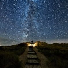 There's a place in Ireland where every 2 years, the stars line up with this trail on June 10th-June 18th. It's called 'Heaven's Trail'.