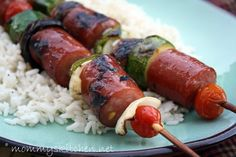 Easy Summer BBQ Idea: Super Easy Smoked Sausage Kabobs