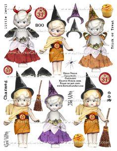 Hello Dollie Halloween Doll Collage Sheet