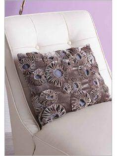 Velvet YoYo cushion. Very pretty.