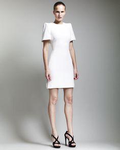 Cape-Back Dress, Ivory by Alexander McQueen at Bergdorf Goodman.