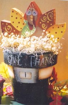 """Give Thanks""  with tutorial & pattern....<3~ would be a  cute centerpiece or a gift:)"
