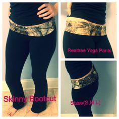 Realtree Camo Skinny Bootcut Yoga Pants on Etsy, $35.00. wanttttt