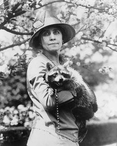 Grace Coolidge Pet Raccoon