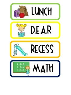 Daily Schedule Card Printables (free!) - A Year of Many Firsts - TeachersPayTeachers.com