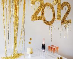 DIY decorations for a New Year's Eve Party