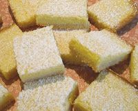 Sugar-free Lemon Squares on Almond Shortbread