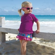SPF clothes that are cute! Sun Smarties One Step Ahead Rash Guard and Skirt via @The Shopping Mama