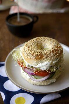 Horseradish Dill Bagel Sandwiches