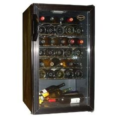 #6: Vinotemp 34 Bottle Wine Cellar - Black Finish