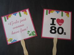 Totally 80s photo prop signs for photo booth