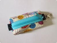How to Make a Zippered Key Ring Pouch