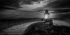 Bug Head Light http://www.mabrycampbell.com #photograph #infrared #lighthouse #bughead #bugheadlight #maine #portland #mabrycampbell #seascape #photo #blackandwhite