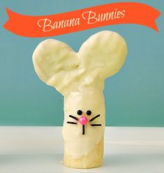 Banana bunnies ~ made with a banana Nutter Butter Cookies