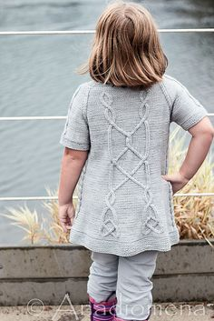 Sea Princess pattern by Elena Nodel #knitting #cardigan #craft