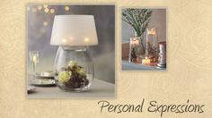 Personal Expressions Trend:  Clearly Creative Lamp and Symmetry Trio