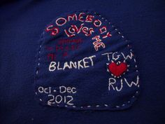 Buffalo Bill's blanket  personalizing it just wasn't enough - i put this on the blanket, too - like a dumbass.