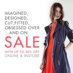Our #Sale is now on, with up to 50% off online & instore
