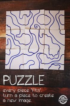 DIY Puzzle Art puzzle art, puzzl printabl, art project, diy puzzl, puzzl art, puzzle projects, kid, back to school