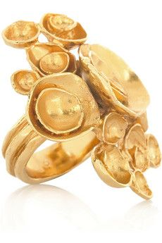 Arty gold-plated flower ring by Yves Saint Laurent