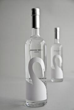 Swan's Neck vodka design
