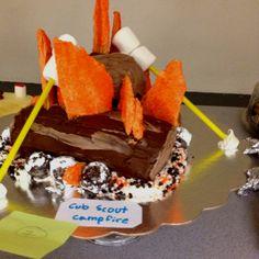 Cub Scout Campfire Cake