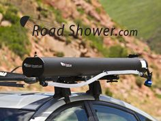 Rack Mounted Solar Shower - Pressurized Hot Water On The Go by Joel Cotton — Kickstarter
