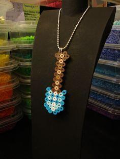 Minecraft Bead Sprite Necklace - Diamond Shovel. $5.00, via Etsy.