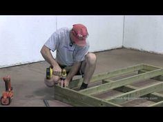 How To Build A Shed - Part 1 Building The Floor - YouTube