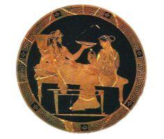 """Pluto and Persephone""  440 b.C.  Itzel Miron"
