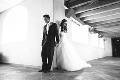 Awesome shot of bride and groom praying before ceremony without seeing each other...AlyssaChris_Married