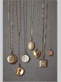 Vintage Lockets - I want one of these!!
