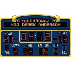 Amazon.com: Football Scoreboard Peel & Stick - With FREE Customized Name: Home & Kitchen