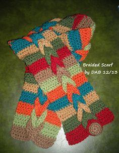 Crocheted braided scarf