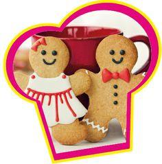 Gingerbread koekjes, gemaakt met de FunCakes mix voor Gingerbread.