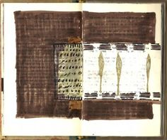 Nora Orbach Sad Maps, page from altered book 2010