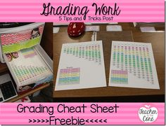 Easy Grading Tips and Tricks and FREEBIES #freebies  Teacher to the Core