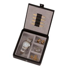 Our personalized watch box and cufflink holder makes a great gift for any guy.