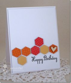 Happy Hexagons - Birthday