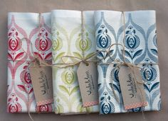 Art deco rose tea towel by luluandluca on Etsy, $13.50