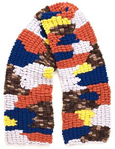 Multi Pom Pom Knit Scarf | Leutton Postle | Avenue32