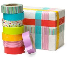 Japanese washi paper tape. Good for all kinds of crafting!
