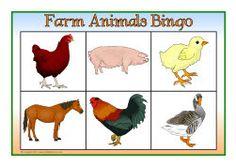 Farm animals bingo (SB7863) - SparkleBox