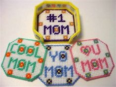 Download Plastic Canvas Patterns   instant download of this pattern mothers day coasters pattern 350